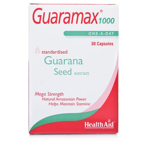 Health Aid Guaramax Guarana 1000mg  30's Caps