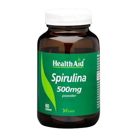 Health Aid Spirulina 500mg,  60 Ταμπλέτες