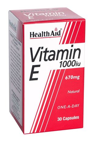 Health Aid Vitamin E 1000iu Natural 30 Κάψουλες