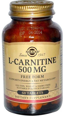 Solgar L-Carnitine 500mg, 60 Ταμπλέτες
