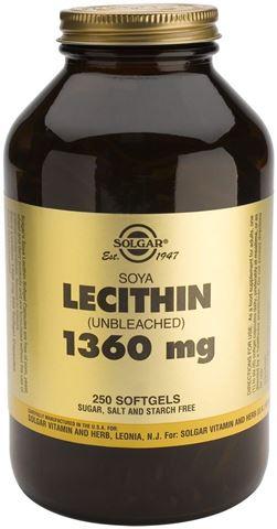 Solgar Lecithin 1360mg, 250 Μαλακές Κάψουλες