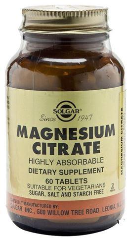 Solgar Magnesium Citrate 200mg, 60 Ταμπλέτες