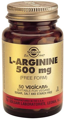 Solgar L-Arginine 500mg 50 Φυτικές Κάψουλες