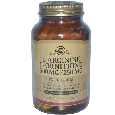 Solgar L-Arginine L-Ornithine 500/250mg, 50 Φυτικές Κάψουλες
