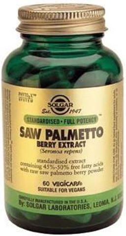 Solgar Saw Palmetto Berry Extract 60 Φυτικές Κάψουλες