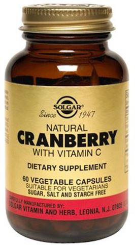 Solgar Cranberry Extract with Vitamin C 60 Φυτικές Κάψουλες
