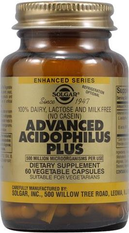 Solgar Advanced Acidophilus Plus 60 Φυτικές Κάψουλες