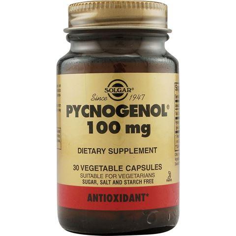 Solgar Pycnogenol 100mg, 30 Φυτικές Κάψουλες