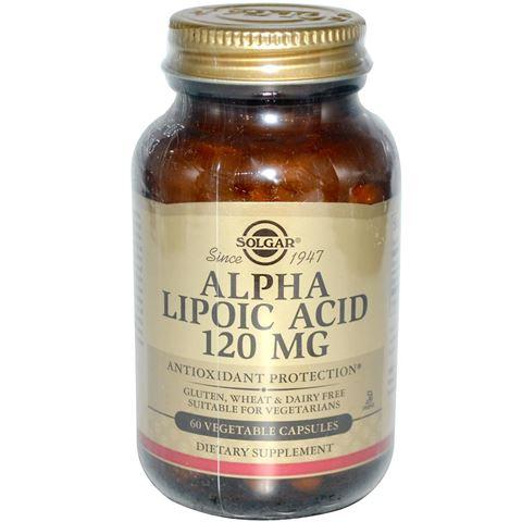 Solgar Alpha Lipoic Acid 120mg, 60 Φυτικές Κάψουλες