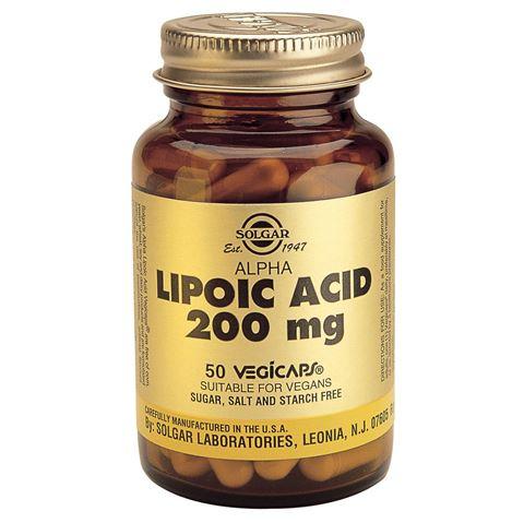 Solgar Alpha Lipoic Acid 200mg, 50 Φυτικές Κάψουλες