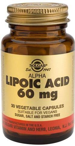 Solgar Alpha Lipoic Acid 60mg, 30 Φυτικές Κάψουλες