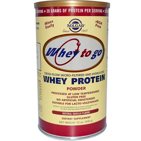 Solgar Whey to Go Protein Powder Vanilla 340gr