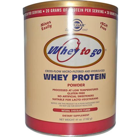 Solgar Whey to Go Protein Powder σοκολάτα 1162gr