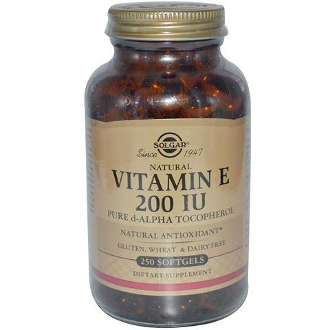 Solgar Vitamin E Natural 200IU, 250 Μαλακές Κάψουλες
