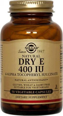 Solgar Vitamin E 400 IU Dry 50 Φυτικές Κάψουλες