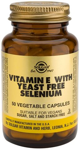 Solgar Vitamin E with Yeast Free Selenium 50 Φυτικές Κάψουλες