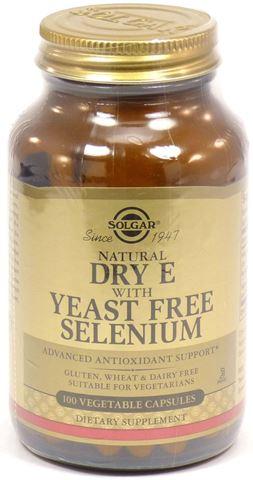 Solgar Vitamin E with Yeast Free Selenium 100 Φυτικές Κάψουλες