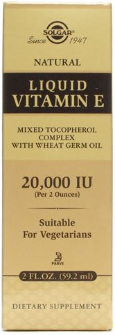 Solgar Natural Liquid Vitamin E Complex 20000IU 59,2ml
