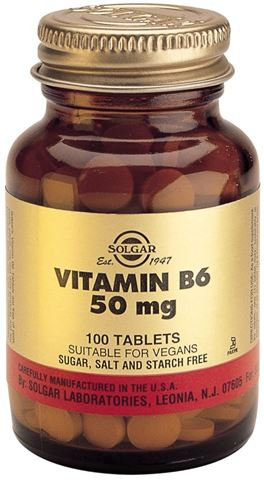 Solgar Vitamin B-6 50mg 100 Ταμπλέτες
