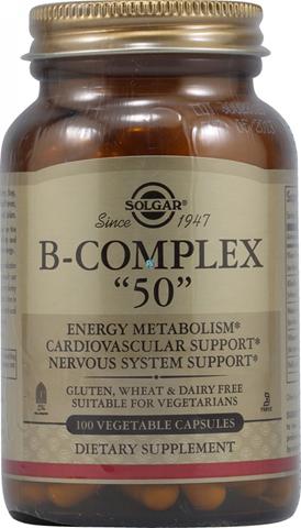 """Solgar Formula B-Complex """"50"""" 100 Φυτικές Κάψουλες"""