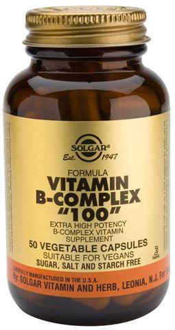 """Solgar Formula B-Complex """"100"""" 50 Φυτικές Κάψουλες"""