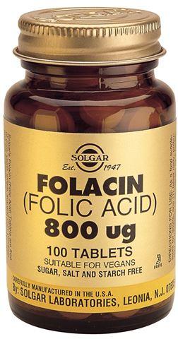 Solgar Folic Acid 800μg 100 Ταμπλέτες