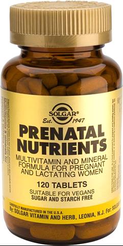 Solgar Prenatal Nutrients 120 Ταμπλέτες