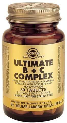 Solgar Ultimate B + C Complex 30 Ταμπλέτες
