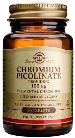 Solgar Chromium Picolinate 100mg, 90 Ταμπλέτες