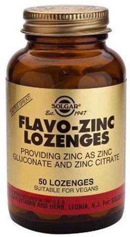 Solgar Flavo-Zinc 23mg, 50 Μασώμενες Ταμπλέτες