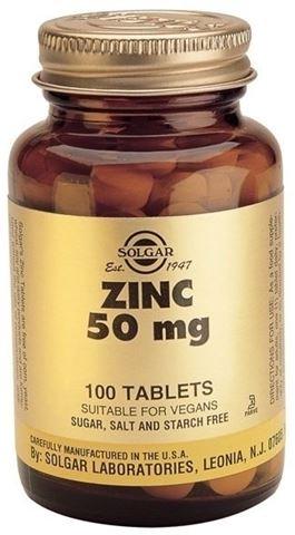Solgar Zinc Gluconate 50mg 100 Ταμπλέτες