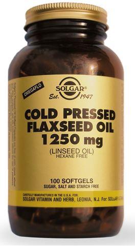 Solgar Flaxseed Oil (Cold Pressed) 1250mg 100 Μαλακές Κάψουλες