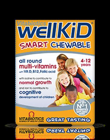 Vitabiotics Wellkid 30 Mασώμενες Tαμπλέτες, 4-12 ετών