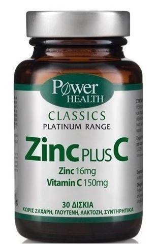 Power Health Platinum Zinc Ρlus C 30 Ταμπλέτες