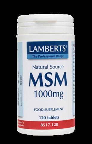 Lamberts MSM 1000mg, 120 Tαμπλέτες