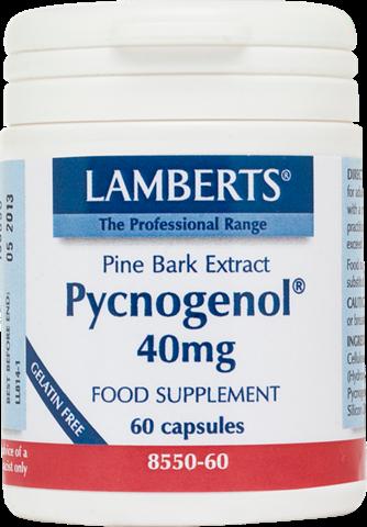 Lamberts Pycnogenol 40mg, 60 Κάψουλες