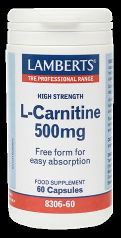 Lamberts L -Carnitine 500mg, 60 Κάψουλες