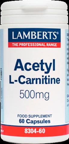 Lamberts Acetyl L-Carnitine 500mg, 60 Κάψουλες