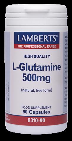 Lamberts L-Glutamine 500mg, 90 Κάψουλες
