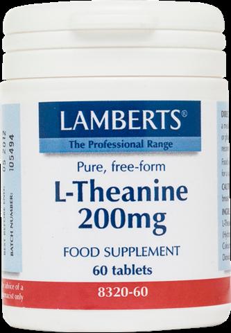 Lamberts L-Theanine 200mg, 60 Ταμπλέτες