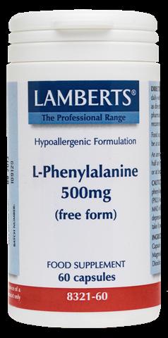 Lamberts  L-Phenylalanine 500mg, 60 Κάψουλες