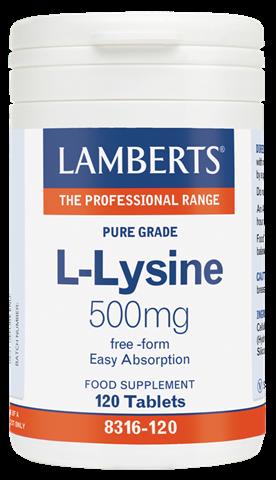 Lamberts L-Lysine 500mg, 120 Ταμπλέτες