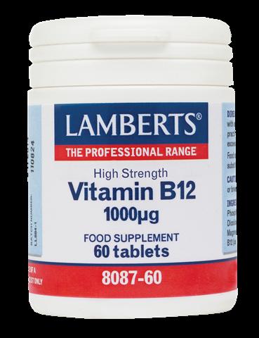 Lamberts Vitamin B12 1000μg, 60 Ταμπλέτες