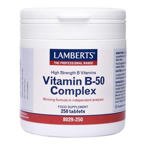 Lamberts Vitamin B-50 Complex 250 Ταμπλέτες