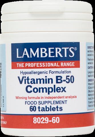 Lamberts Vitamin B-50 Complex 60 Ταμπλέτες