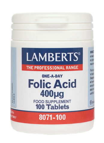 Lamberts Folic Acid 400μg, 100 Ταμπλέτες