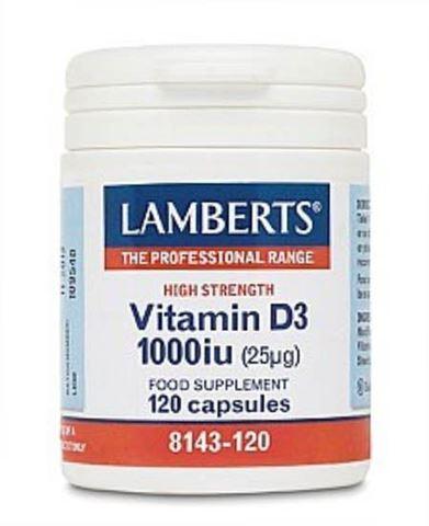 Lamberts Vitamin D3 1000iu, 120 Κάψουλες