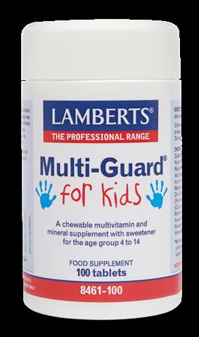 Lamberts Multi-Guard For Kids 100 Μασώμενες Ταμπλέτες