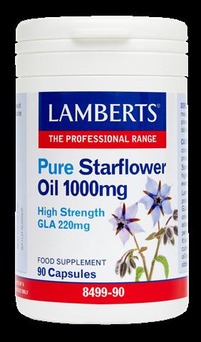 Lamberts Pure Starflower Oil 1000mg 90 Κάψουλες