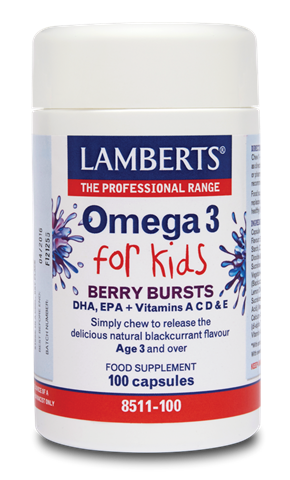 Lamberts Berry Bursts - Omega 3 for Kids 100 Μασώμενες Κάψουλες